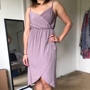 Lavender strapped dress